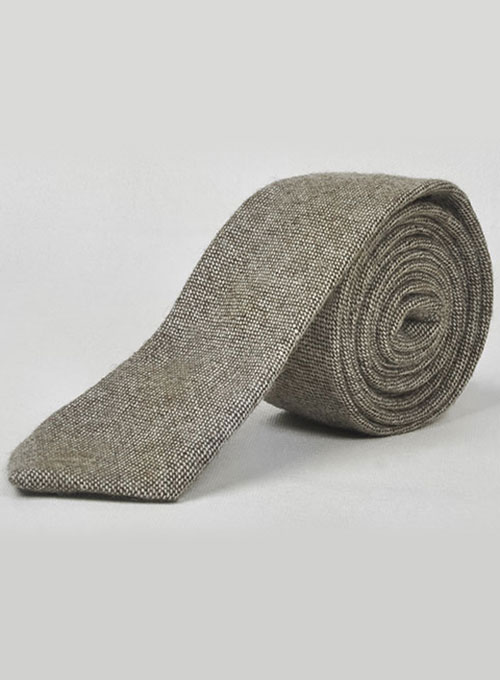 Tweed Tie - Brown Tweed