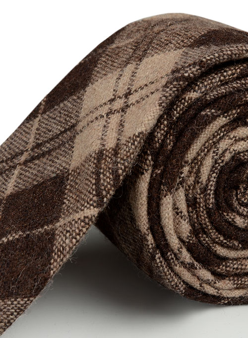 Tweed Tie - Brown Scot Tweed