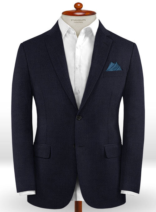 Caccioppoli Dapper Dandy Arber Navy Blue Wool Suit - Click Image to Close