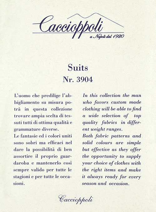 Caccioppoli Wool Blue Iglesi Suit - Click Image to Close