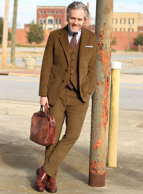 Camel Thick Corduroy Suit : StudioSuits: Made To Measure Custom ...
