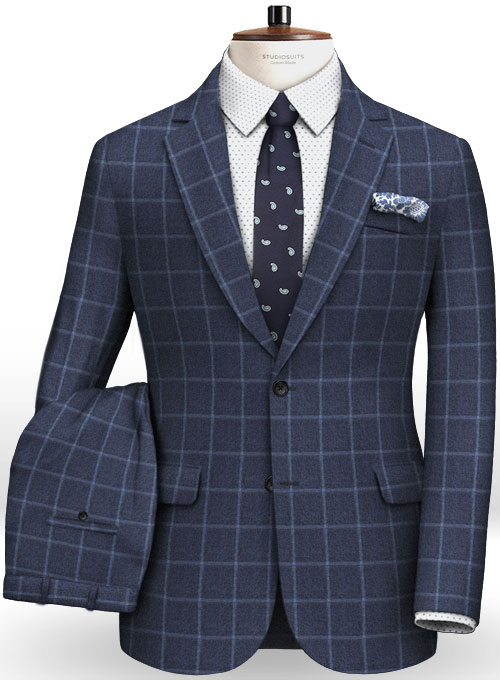 Cashmere Flannel Fire Wool Suit Studiosuits Made To