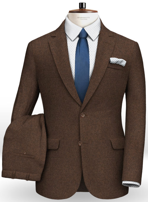 Cashmere Flannel Ladson Wool Suit - Click Image to Close