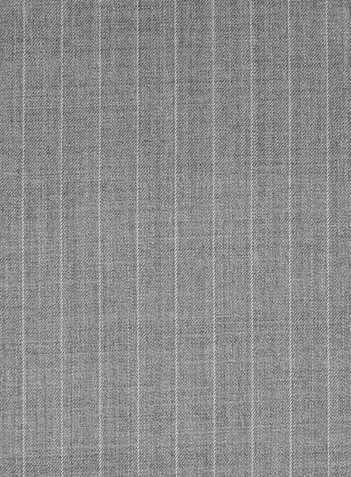 Chalkstripe Wool Light Gray Suit - Click Image to Close