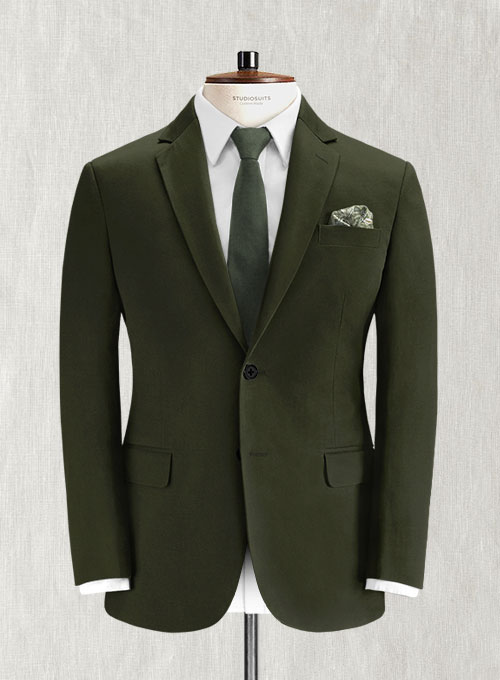 Dark Olive Green Chino Suit Studiosuits Made To Measure