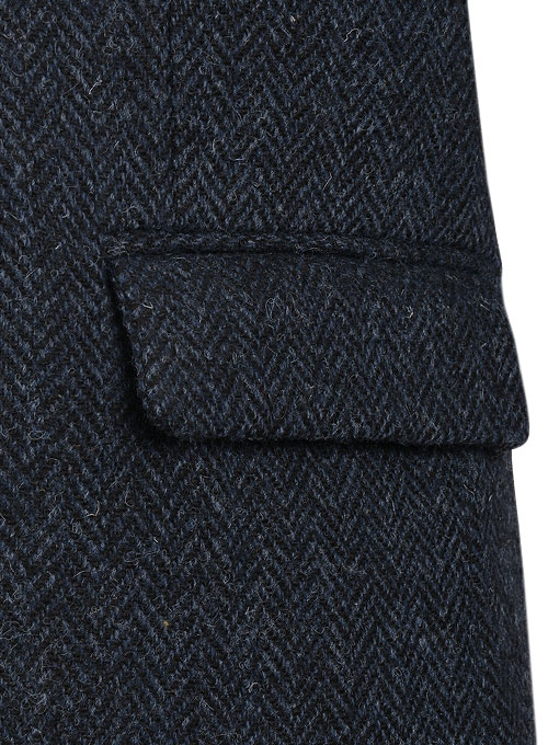 Harris Tweed Dark Blue Herringbone Jacket Studiosuits