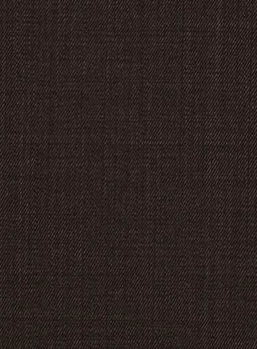 Worsted Dark Brown Wool Suit Studiosuits Made To