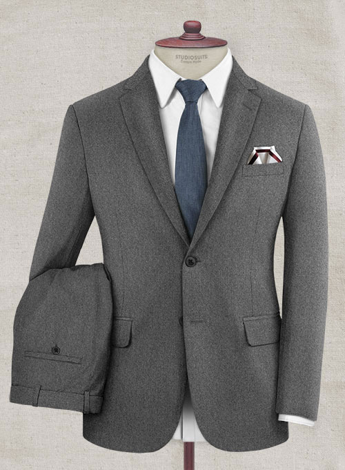 Gray Flannel Wool Suit Studiosuits Made To Measure