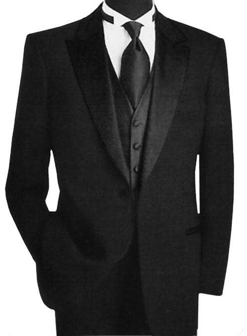 Black Rayon Tuxedo Black Tuxedo Black Tuxedo|Custom Suits| Mens ...