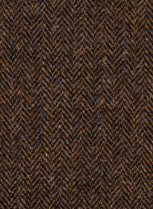 Harris Tweed Dark Brown Herringbone Suit Studiosuits