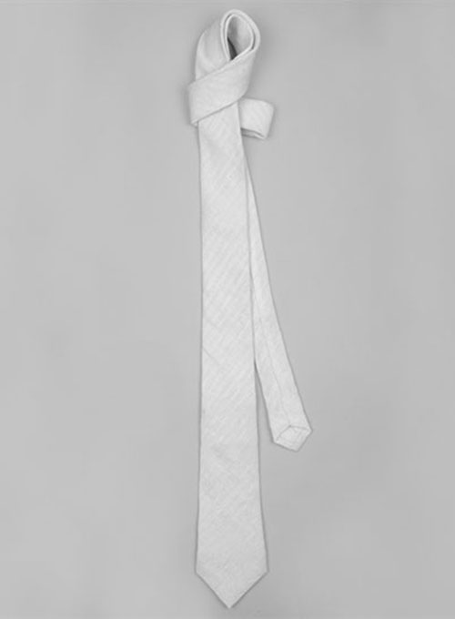 Italian Linen Tie - White Prince - Click Image to Close