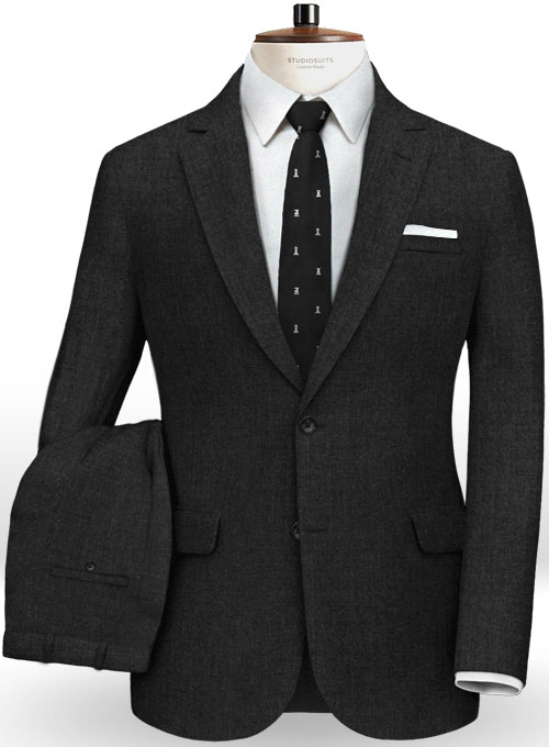 Italian Charcoal Wool Suit Studiosuits Made To Measure