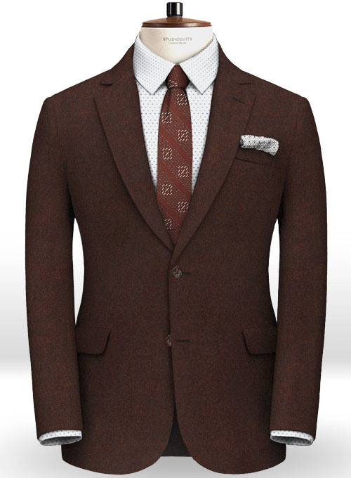 Italian Flannel Wine Wool Suit - Click Image to Close