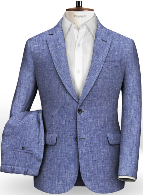 e88032e8c3b Italian Spring Royal Blue Linen Suit : StudioSuits: Made To Measure Custom  Suits, Customize Suits, Jackets and Trousers