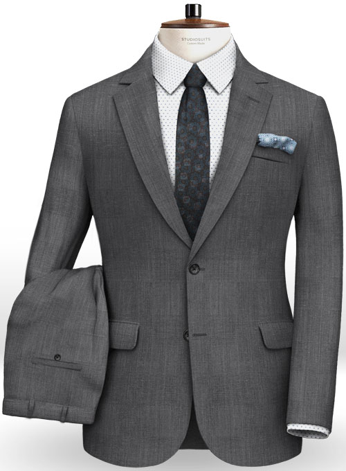 Italian Wool Linen Dino Suit - Click Image to Close