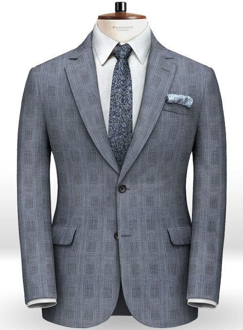 Italian Wool Linen Riso Suit - Click Image to Close