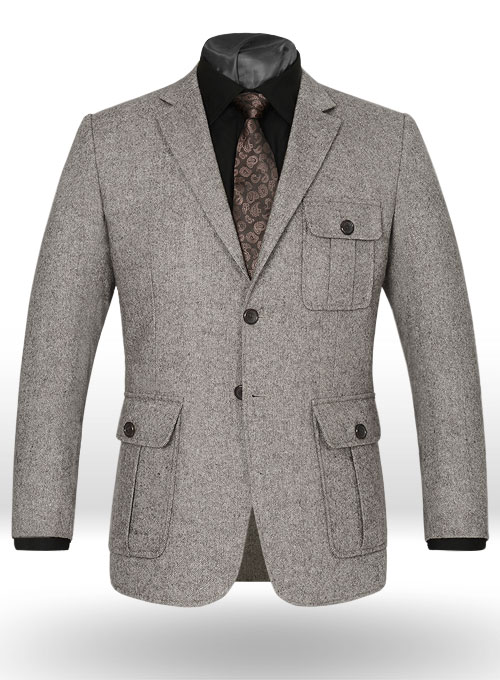 Lt Wt Brown Tweed Danish Style Sports Coat Studiosuits