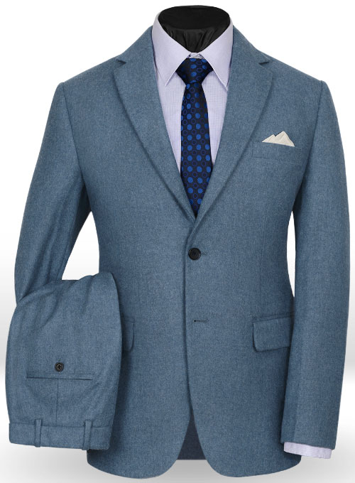 Light Weight Turkish Blue Tweed Suit StudioSuits Made