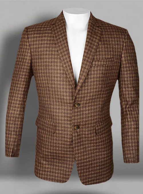 Maze Brown Tweed Jacket Studiosuits Made To Measure