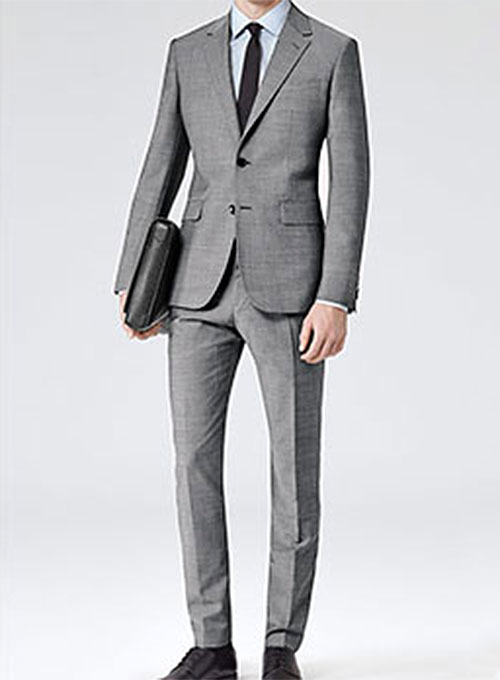 Worsted Mid Charcoal Wool Suit Studiosuits Made To