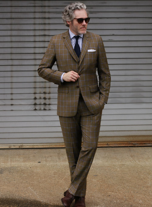 d7f556d00a Napolean Amster Brown Wool Suit   StudioSuits  Made To Measure Custom Suits