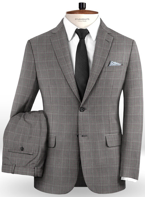 Napolean Lazo Gray Wool Suit - Click Image to Close