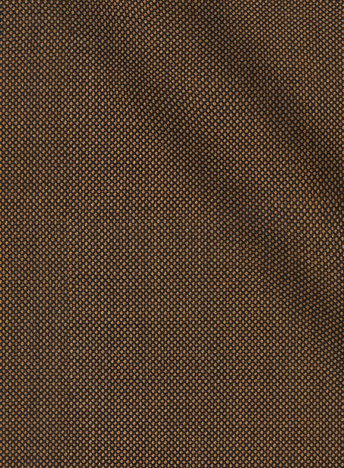 Napolean Brown Birdseye Wool Suit - Click Image to Close
