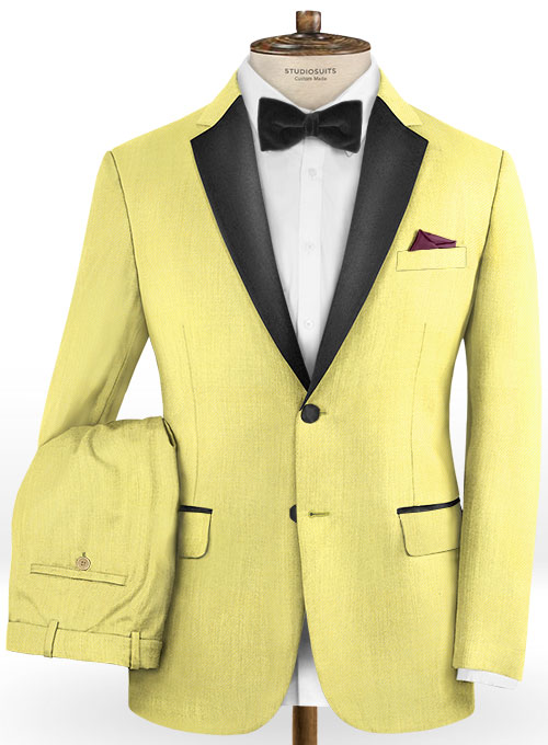 Napolean Yellow Wool Tuxedo Suit - Click Image to Close