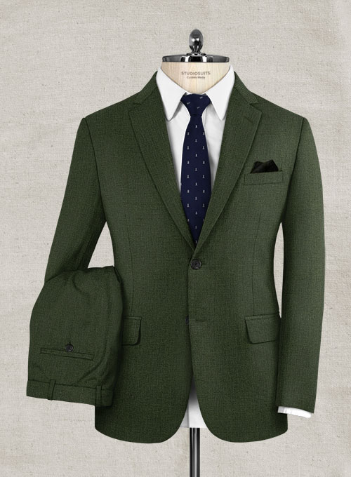 Pinhead Wool Green Suit - Click Image to Close