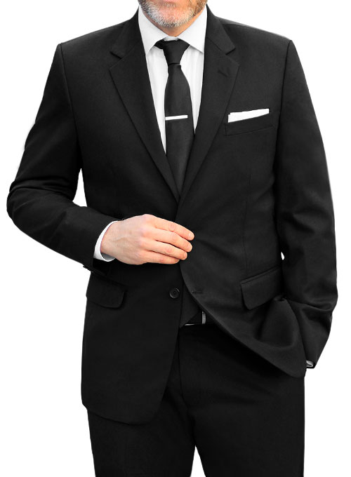 Black Merino Wool Suit