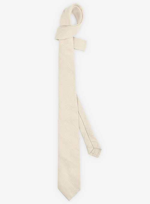 Linen Tie - Pure Beige - Click Image to Close