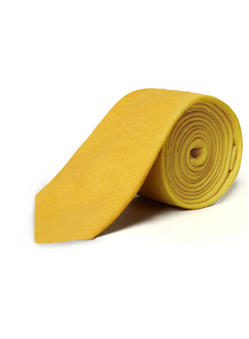 Linen Tie - Pure Orchid Yellow