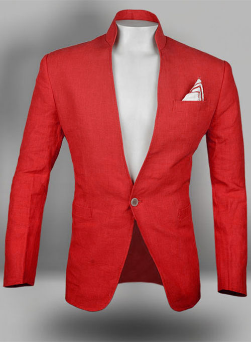 Pure Red Linen Roma Sports Jacket Studiosuits Made To