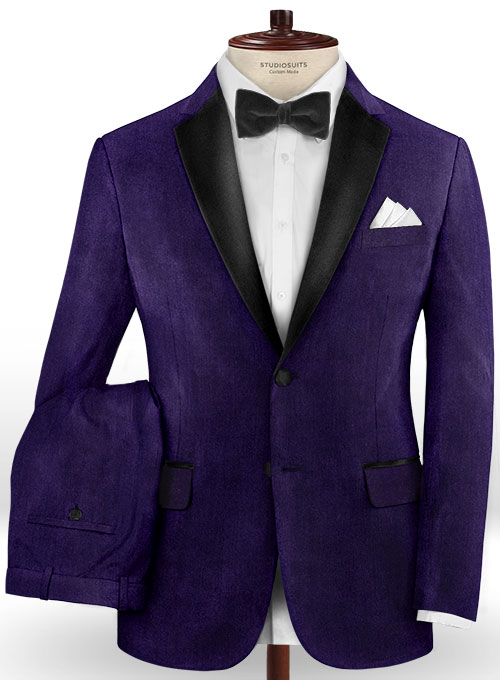 Purple Velvet Tuxedo Suit Studiosuits Made To Measure