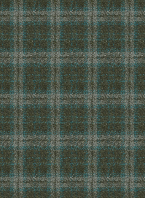Reda Flannel Checks Green Pure Wool Suit - Click Image to Close