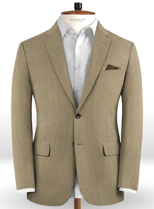 Reda Worsted Beige Pure Wool Suit - Click Image to Close
