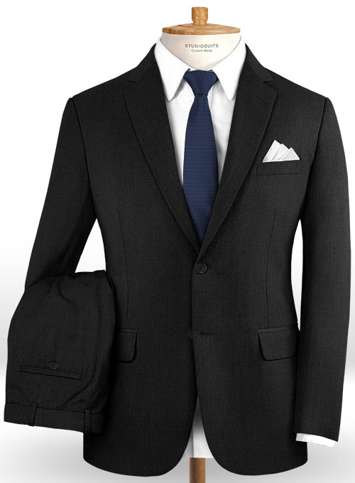 Scabal Black Wool Suit - Click Image to Close