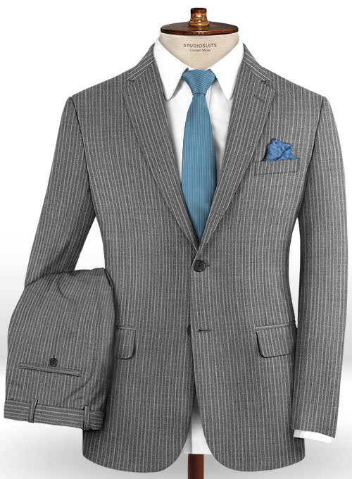 Scabal Femdo Gray Wool Suit - Click Image to Close