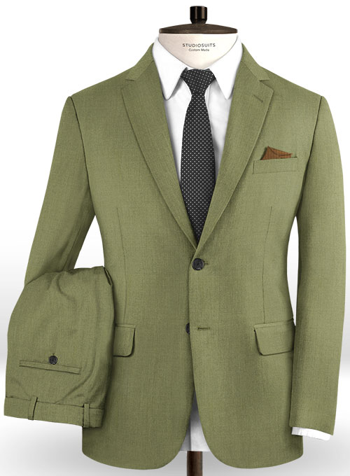 Scabal Fern Green Wool Suit - Click Image to Close
