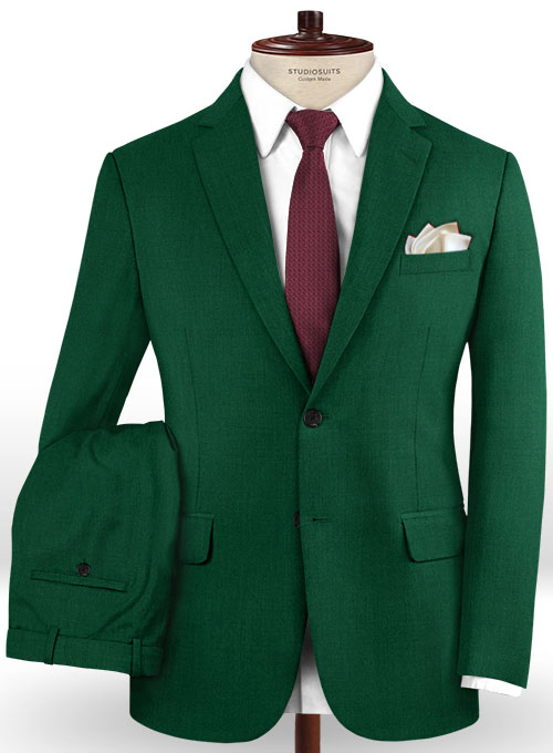 Scabal Oslo Green Wool Suit - Click Image to Close