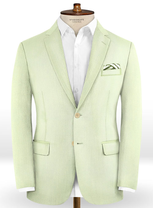 Scabal Pale Green Wool Suit - Click Image to Close