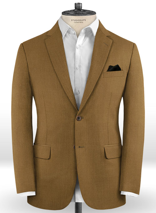 Scabal Sepia Brown Wool Suit - Click Image to Close