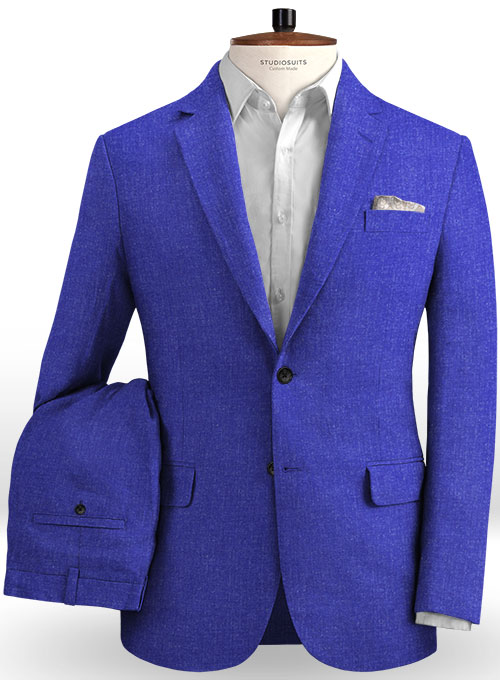 Solbiati Cobalt Blue Linen Suit - Click Image to Close