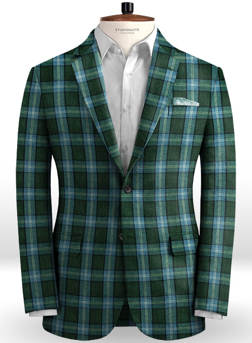 Solbiati Green Glen Linen Suit - Click Image to Close