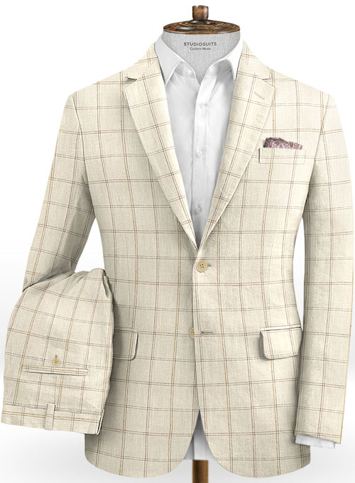 Solbiati Linen Wool Silk Otto Suit - Click Image to Close