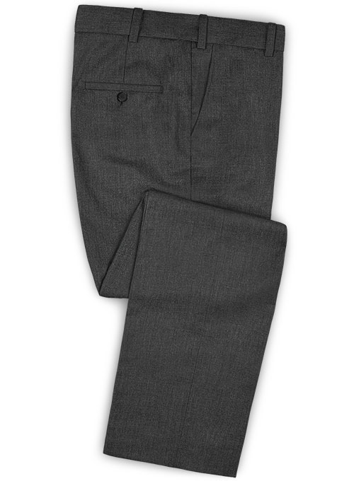 Stretch Charcoal Wool Suit - Click Image to Close