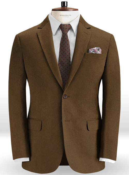 Stretch Summer Weight Brown Chino Suit