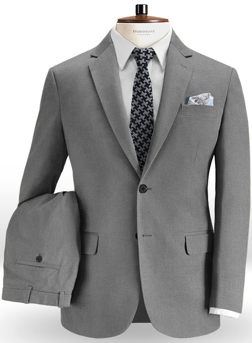 a3cb5a3c3f0b Stretch Summer Weight Gray Chino Suit   StudioSuits  Made To Measure Custom  Suits