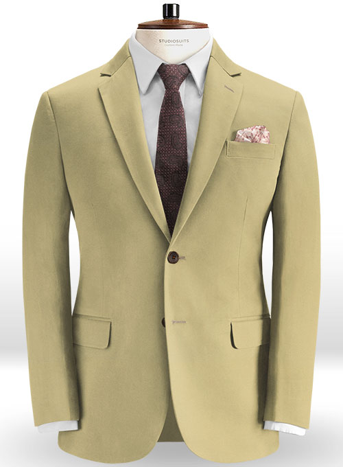 Stretch Summer Weight Khaki Chino Suit - Click Image to Close