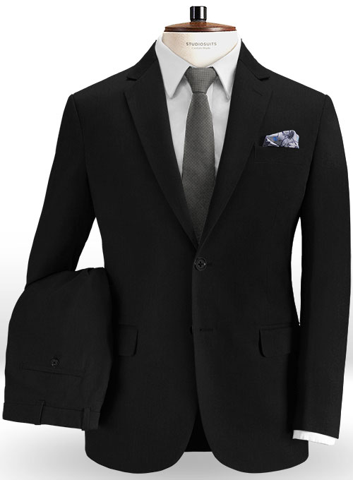 941d00b83f27 Summer Weight Black Chino Suit   StudioSuits  Made To Measure Custom Suits